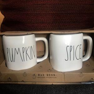 Rae Dunn PUMPKIN SPICE Fall Mug Set